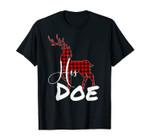 Matching Couples Christmas Pj Pajamas His Doe T-Shirt