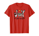 Joy To The World Baby Jesus In The Manger Christmas Design T-Shirt