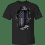 Thin Blue Line Flag Vintage Old Retro T-Shirt Support Our Law Enforcement Shirt For Men Women