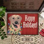 Dog Happy Holidays Doormat Holiday Doormat Cute Welcome Mat Front Door Rug For Sale