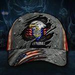 Navy Veteran Hat 3D USN Us Navy Veteran Hat Patriotic Eagle American Flag Cap Vintage