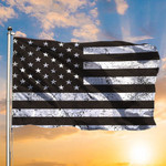Black And White American Flag Honor Military Army Law Enforcement Pride Flag Patio Furniture