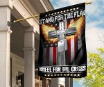 Stand For The Flag Kneel For The Cross Flag Angel Cross W American Flag Decor Christian Gifts