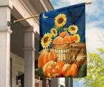 Pumpkins For Sale Sunflower Blue Sky And Star Flag Halloween Door Decoration Ideas Farmhouse