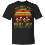 First Annual WKRP Thanksgiving Day Turkey Drop T-Shirt Vintage Shirt Designs Gifts For Family