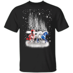 Three Horse 2020 American Shirt Ugly Christmas Graphic Tee For Patriot Gift For Horse Lover