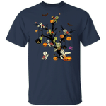 Family Sea Turtle With Pumpkin Halloween Tree T-Shirt Cutest Turtle Gifts For Turtle Lovers