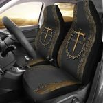 Cross Forgiven Car Seat Cover Religious Christian Decorated Car Interior Unique Gift