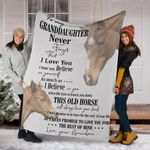 Horse To My Granddaughter Fleece Blanket, Winter Gift Ideas Motivational Gifts From Grandma