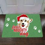 Feliz Naughty Dog Doormat Christmas Home Decor