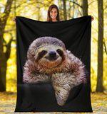 Sloth Fleece Blanket Sloth Graphic Throw Blanket Good Gift For Girlfriend Boyfriend Sloth Lover