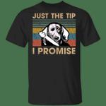 Dachshund Just The Tip I Promise T-Shirt Vintage Retro Weiner Dog Shirt Halloween Gifts