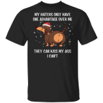 Dachshund One Advantage Over Me They Can Kiss My Ass T-Shirt Funny Xmas Tee Weiner Dog Gifts