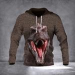 T-Rex 3D Hoodie Dinosaur T-Rex Graphic Print 3D Adult Men Pullover Hoodie Clothing