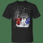Dachshund American Flag Xmas Shirt Snowflake Winter Shirt Ugly Christmas Shirt For Unisex