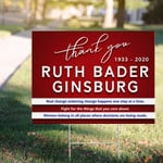 Thank You Ruth Bader Ginsburg Yard Sign RBG Motivational Quotes For Girl Spirit Gifts Feminist