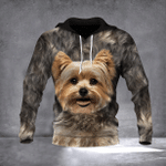 Yorkie Hoodie 3D All Over Print Face Dog Best Gift For Men For Women