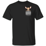 Angry Chihuahua Pocket Shirt Cute Dog Funny Graphic Tee For Men Women Gift For Pet Lover