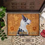 Wipe Your Paws Door Mat Great Dane Dog Doormat Funny Dog Front Outdoor Cute Doormat Washable