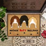 Nothing Butt Bulldog Doormat Hilarious Funny Front Doormat For Bulldogs Lover Owner Gift