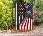 Black And White Inside American Flag Stand For Sacrifice Law Enforcement Officers Pride Gifts