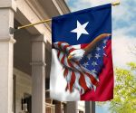 Texas Patriotic Eagle U.S States Flag Texas Patriot For Independence Holiday Decor Gift