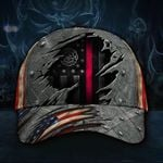 Firefighter Flag American Cap Hat  Proud State