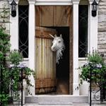 Unicorn Vintage Wood Door Cover Cute Unicorn Welcome Door Cover Front Door Decoration Ideas