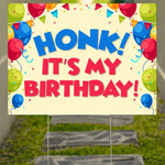 Honk It's My Birthday Yard Sign Christmas Gifts For Kids Lawn Yard Decor
