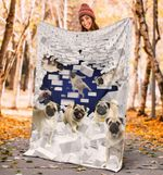 Pug Wall Broken Blanket Cute Soft Blanket Pug Dogs Pet For Bed Sofa Couch Gift For Pug Lovers