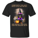 Dachshund Some Days You Just Have To Put On The Hat T-Shirt Cute Dachshund Halloween Gift