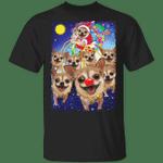 Chihuahua Santa Claus Reindeer T-Shirt Funny Chihuahua Ugly Xmas Shirt Design Gift For Family