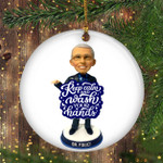 Dr Fauci Ornament Fauci Christmas Ornament Keep Calm And Wash Your Hands Funny 2020 Ornament