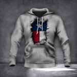Texas State Flag Hoodie 3D Inside Hole Graphic Design Hoodie Gift For Patriotic