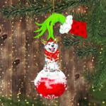Husky Feliz Naughty Dog Ornament Green Hand Holding Christmas Tree Decorations Ideas 2020