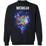 Michigan State Sweatshirt Patriotic State Of Michigan Shirt Sweatshirt For Men Women