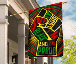 Say It Loud I'm Black And I'm Proud Flag Juneteenth Flag For African American Spirit Gifts