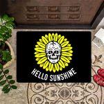 Hello Sunshine Doormat Hello Welcome Outdoor Indoor Mat Skull Sunflower Door Mat
