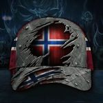 Norwegian Hat 3D Vintage Old Retro Patriotic Flag Norway Hat For Men