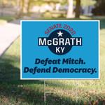 Senate 2020 McGrath KY Yard Sign To Defeat Mitch McGrath Kentucky Sign Democratic Party Sign