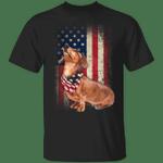 Dachshund American Usa Flag Dog T-Shirt Patriotic Gifts For Him