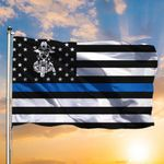 Thin Blue Line American Flag Respect Cops Support Law Enforcement Veterans Day Gifts For Police