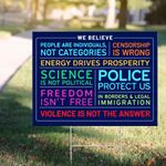 Signs Of Justice We Believe Yard Sign We Believe Violence Is Not The Answer Sign House Decor