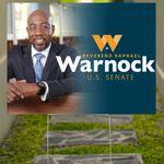 Raphael Warnock Yard Sign Reverend Raphael Warnock U.S Senate Lawn Sign Decor