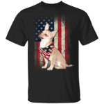 Chihuahua American Usa Flag Dog T-Shirt Patriotic 4th Of July Shirts