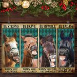 Horse Be Strong Be Brave Be Humble Be Badass Vintage Poster Funny Poster Room Home Decor