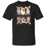 Corgi Water Reflection Christmas 3D T-Shirt Seasonal Gift Ideas Santa Corgi Christmas Gifts