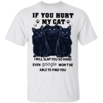 Black Cats If You Hurt My Cat T-Shirt Cute Graphic Apparel Gift For Cat Lovers With Funny Quote
