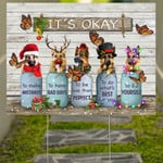 Butterfly German Shepherd It's Okay Quotes Christmas Yard Sign Best Gifts For Dog Owners
