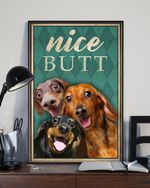 Dachshund Nice Butt Poster Funny Bathroom Dog Wall Decor Housewarming Gift For Dachshund Lover